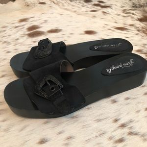 Free People Westtown Slide Clog - Blk Sz. 9